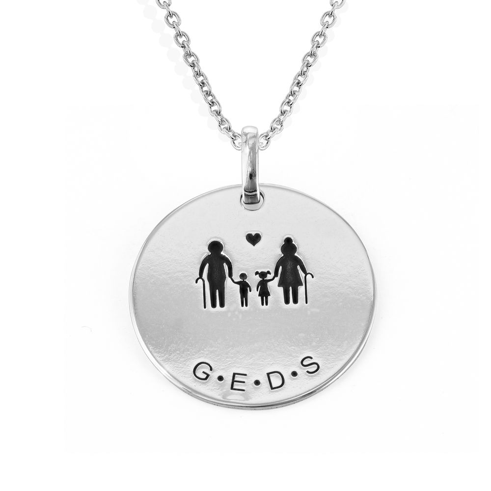 Family Necklace for Mum in Sterling Silver - 1