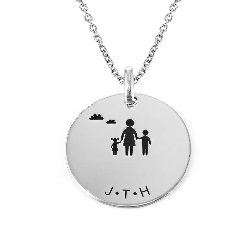 Family Necklace for Mum in Sterling Silver - 2
