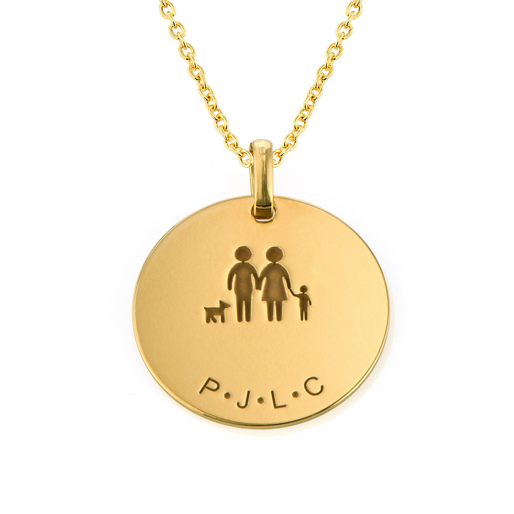 Family Necklace for Mum in 18ct Gold Plating - 1