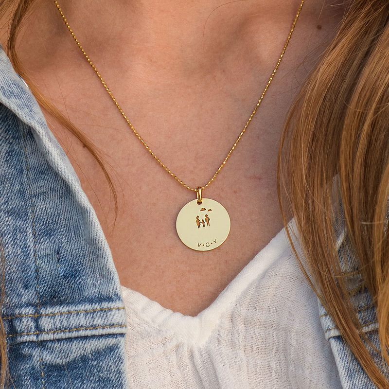 Family Necklace for Mum in Gold Vermeil - 2