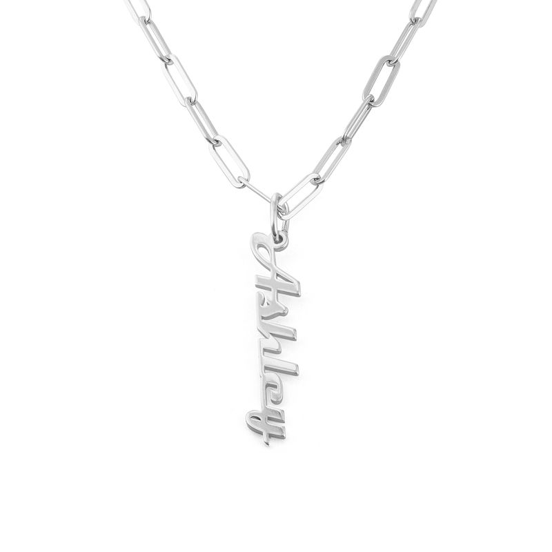 Chain Link Name Necklace in Sterling Silver - 2