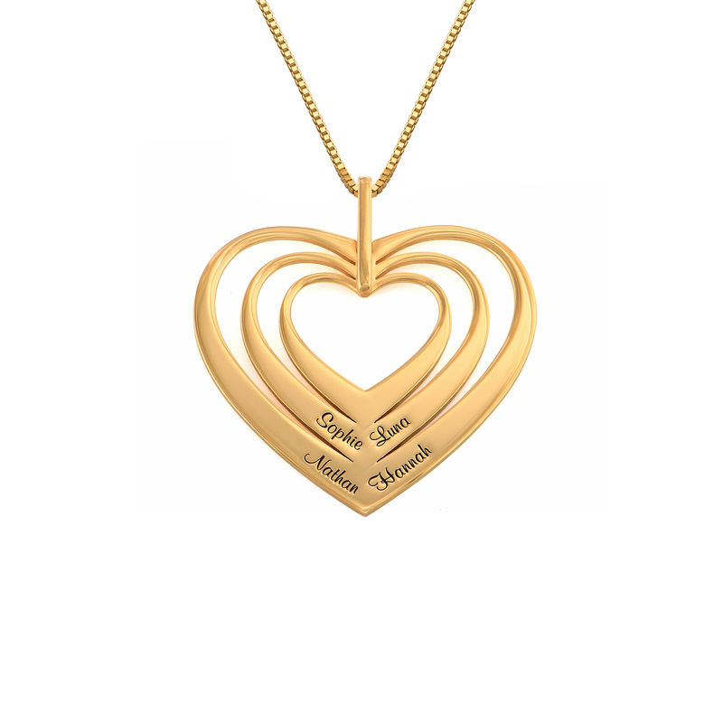 Family Hearts necklace in 18ct Gold Vermeil - Mini design