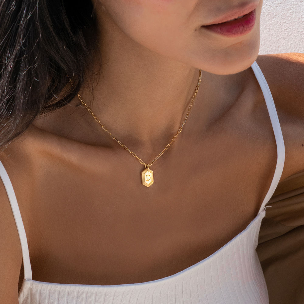 Cupola Link Chain Necklace in 18ct Gold Plating - 1