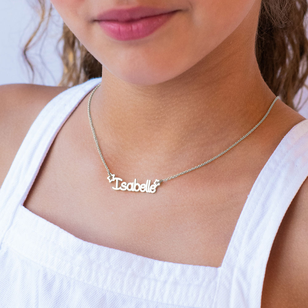 Girls Name Necklace in Sterling Silver - 1