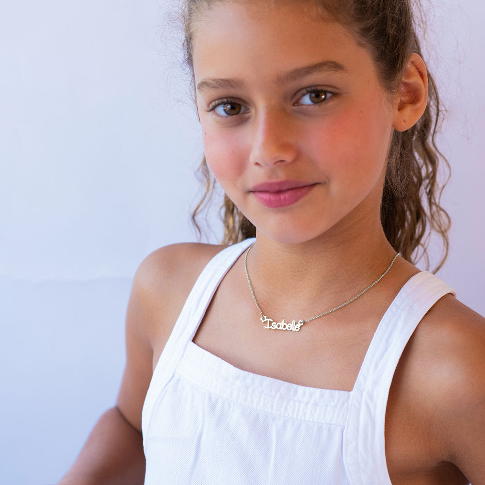 Girls Name Necklace in Sterling Silver - 2