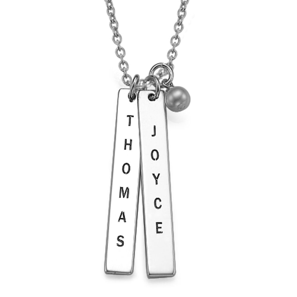 Customised Name Tag Necklace in Sterling Silver