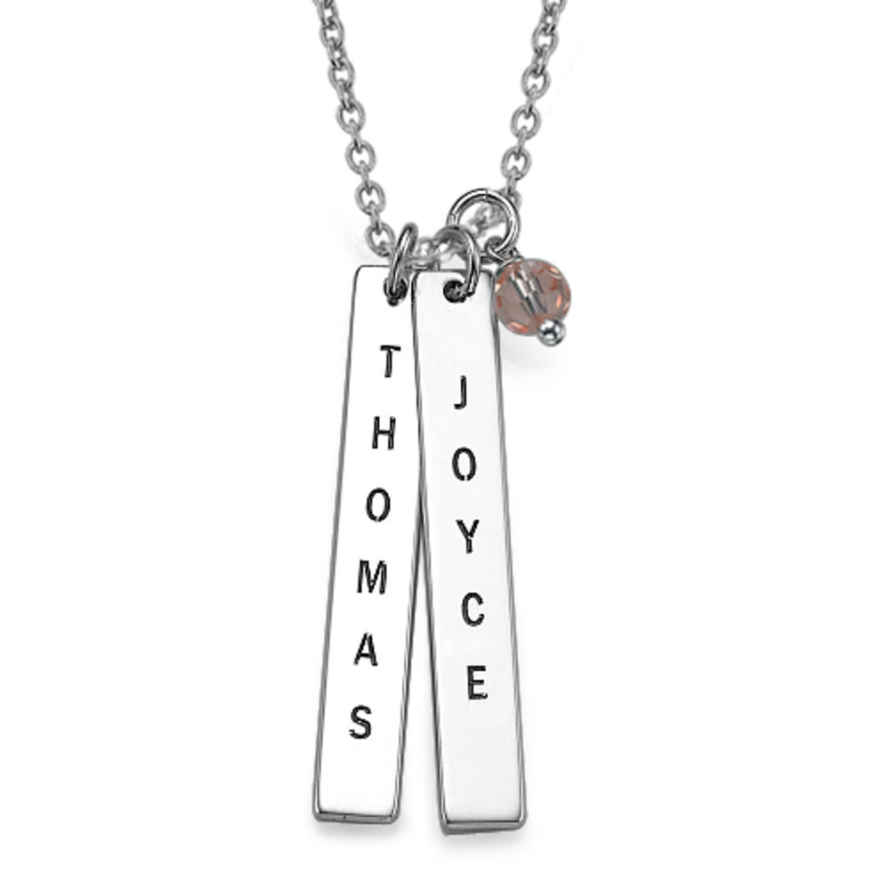 Customised Name Tag Necklace in Sterling Silver - 1