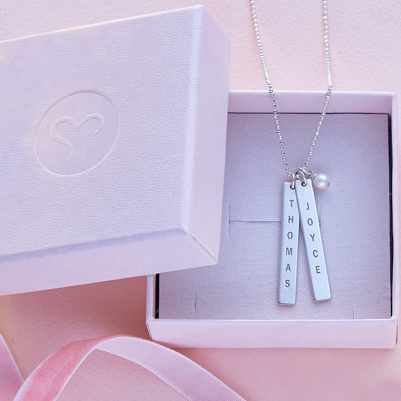 Customised Name Tag Necklace in Sterling Silver - 4