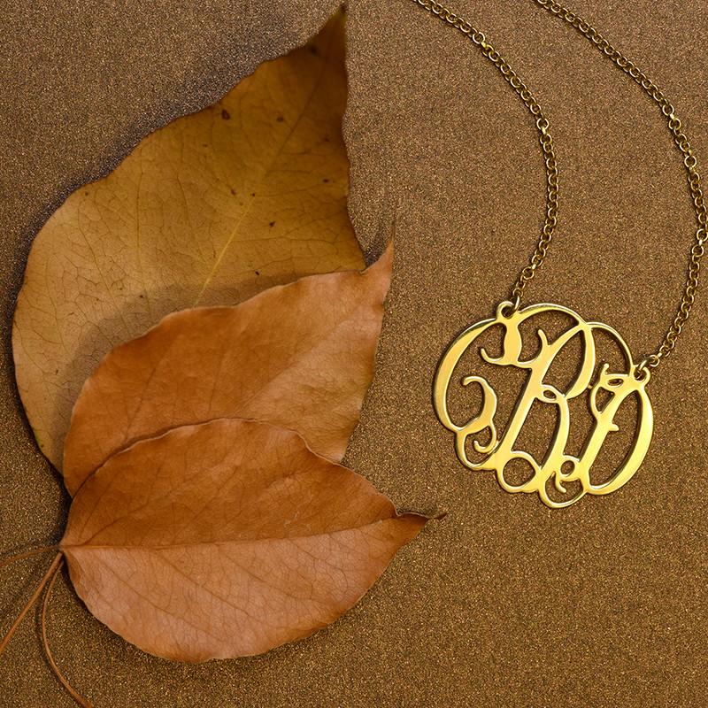 18ct Celebrity Style Monogram Necklace - 2