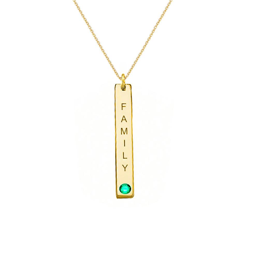 Swarovski Vertical Bar Necklace For Mothers in 18ct Gold Vermeil - 2