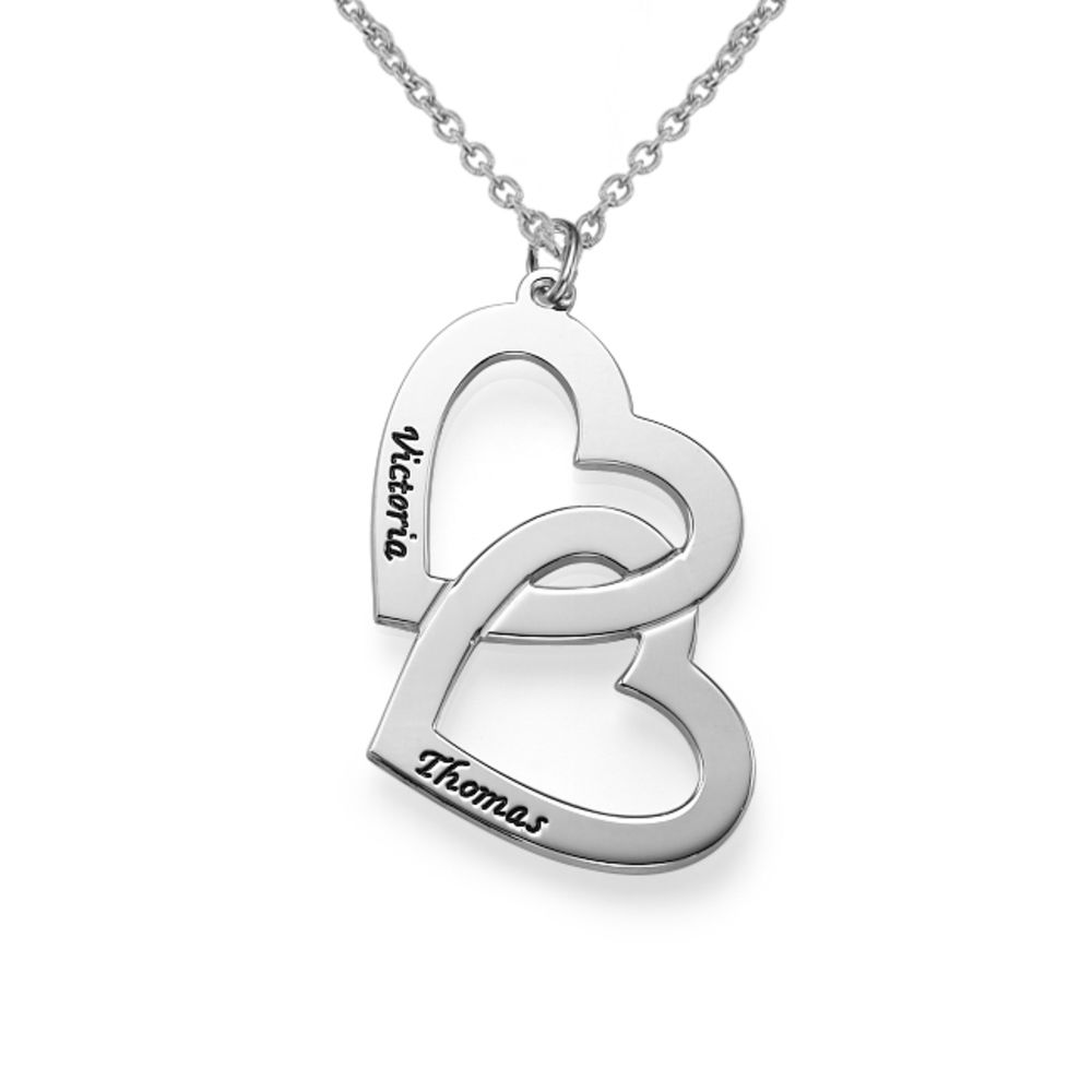 Personalised Heart in Heart Couples Necklace