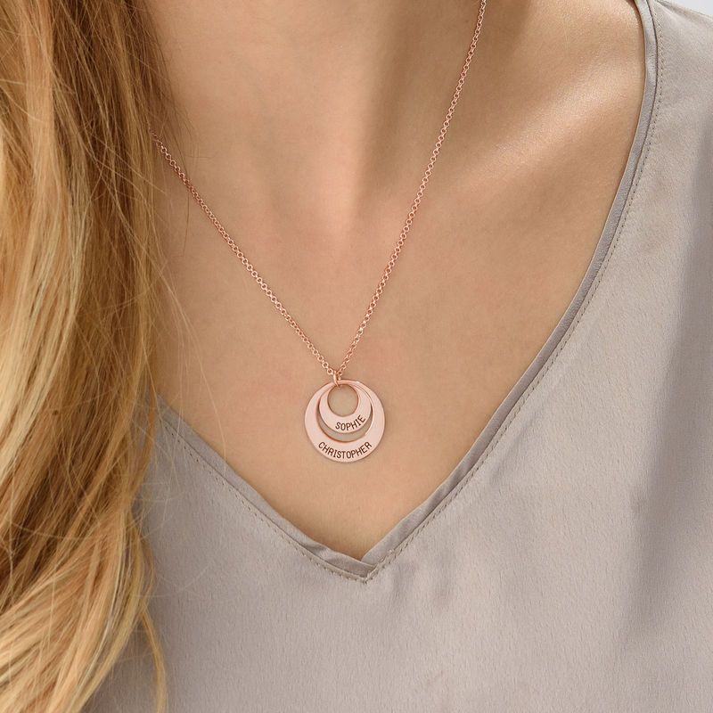 Personalised Jewellery for Mums – Disc Necklace in Rose Gold Plating - 5