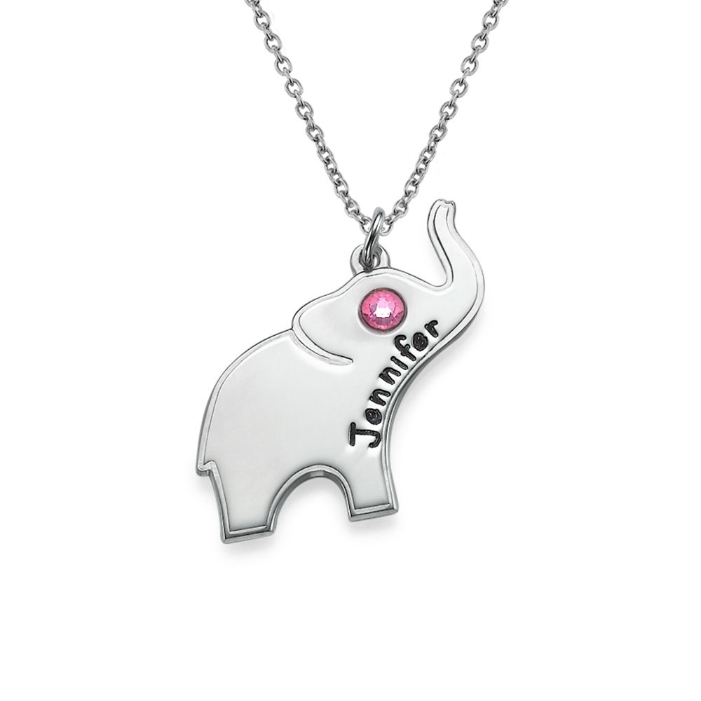 Sterling Silver Engraved Elephant Necklace