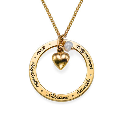 Personalised Mothers Jewellery in Gold Plating