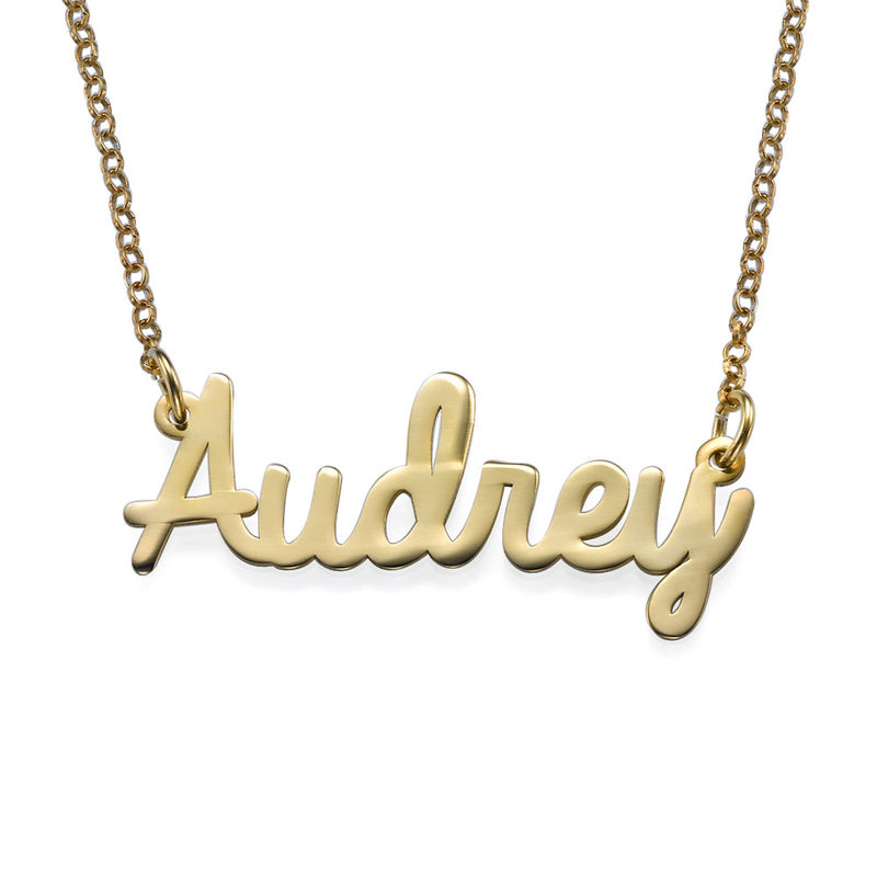 Personalised Jewellery - Cursive Name Necklace in Vermeil
