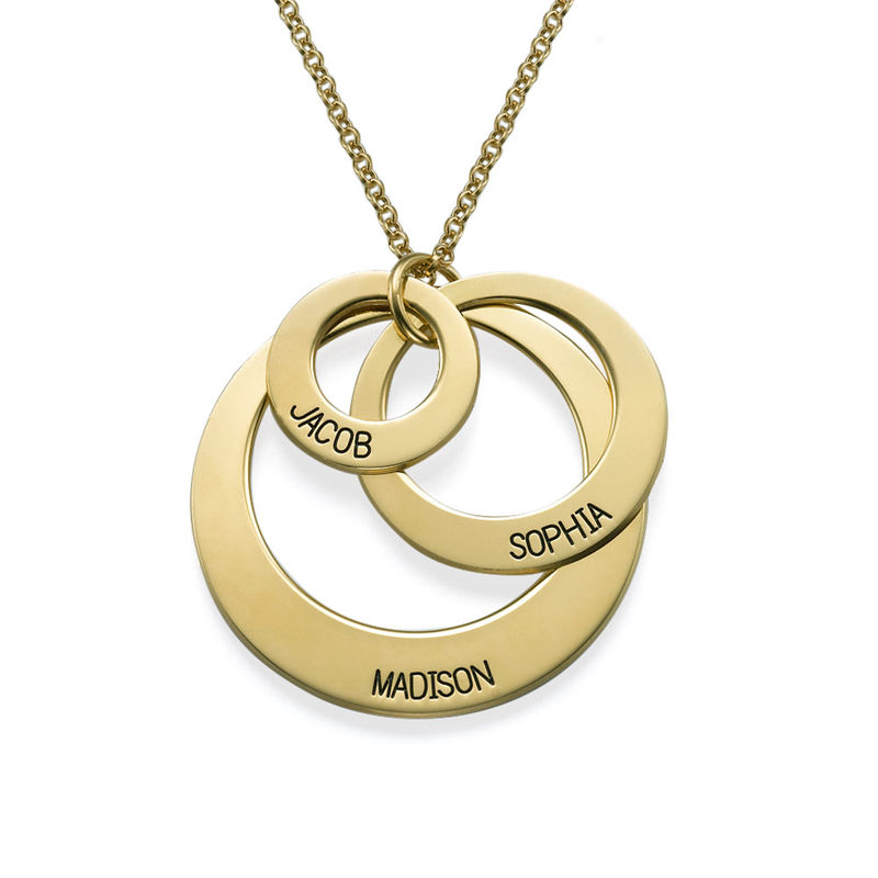 Jewellery for Mums - Three Disc Necklace in 18ct Gold Plating - 1