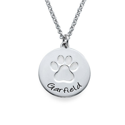 Personalised Paw Print Necklace