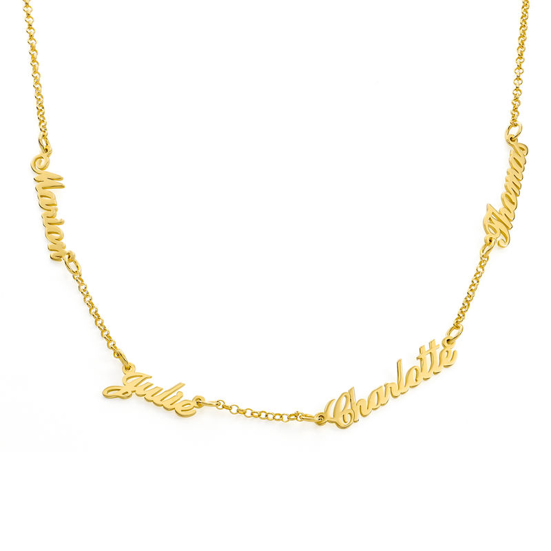 Multiple Name Necklace in 18k Gold Vermeil