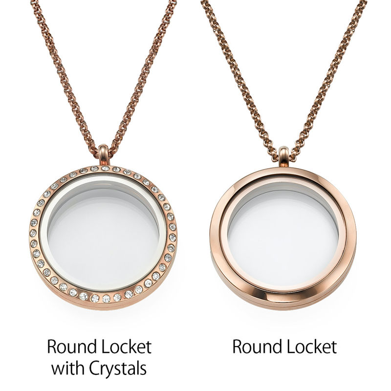 """Engraved Floating Charms Locket in Rose Gold Plating - """"For Mum or Grandma"""" - 2"""