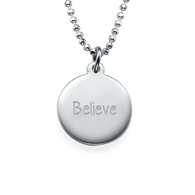 """Inspirational Gifts - """"Believe"""" Necklace"""