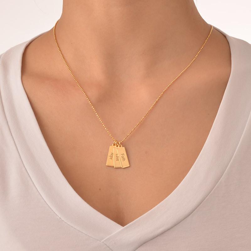 Hope Love Faith Inspirational Bar Necklace - 1