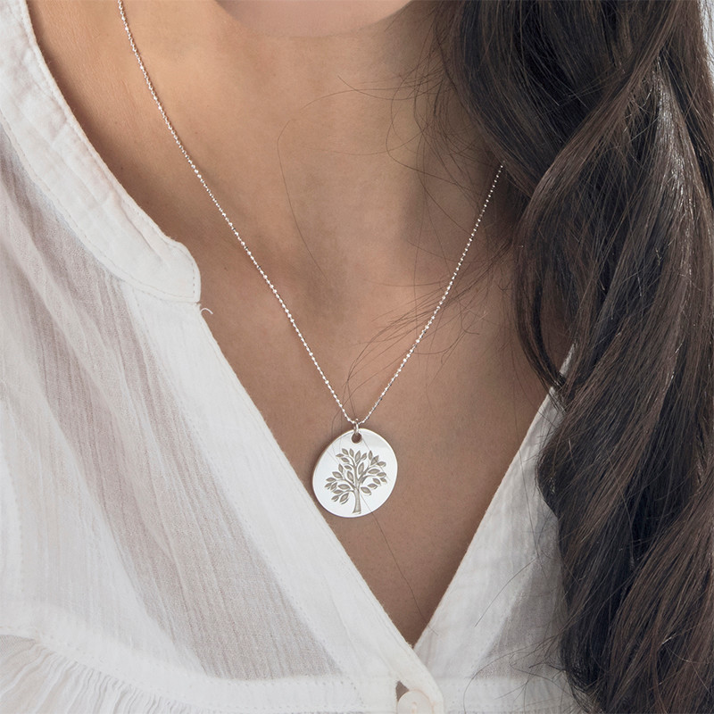 Family Tree Necklace with Engraving - 2