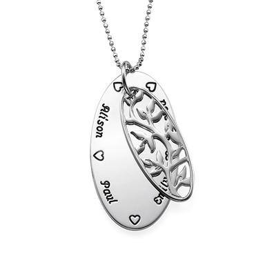 Oval Family Tree Necklace - 1