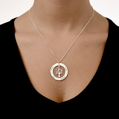Family Tree Jewellery - Engraved Disc Necklace - 1