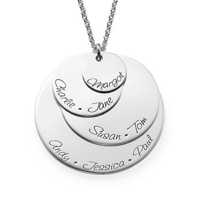 Engraved Mum Necklace with Four Discs - 1