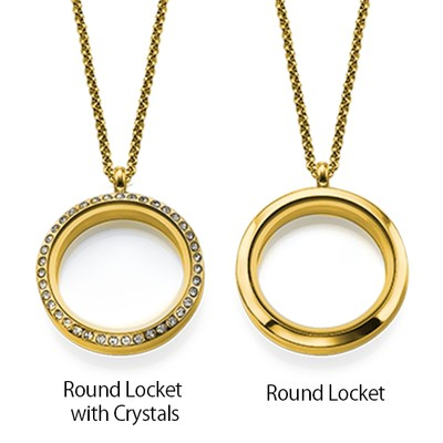 Floating Locket for Mum with Children Charms - Gold Plated - 3