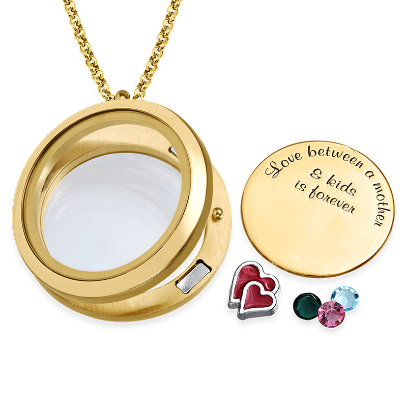 Love My Children Floating Locket with Gold Plating - 1