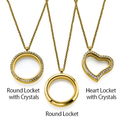 Love My Children Floating Locket with Gold Plating - 3