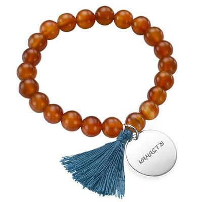 Yoga Jewellery - Engraved Elephant Bead Bracelet - 2
