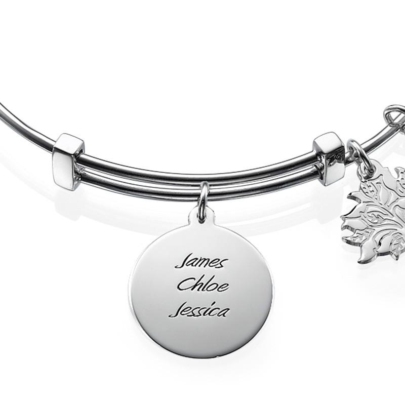 Mum Charm Bangle Bracelet - 1