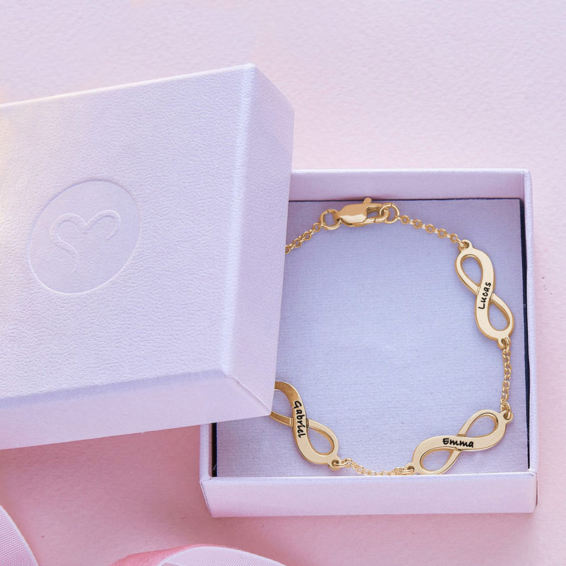 Multiple Infinity Bracelet in Gold Plating - 5