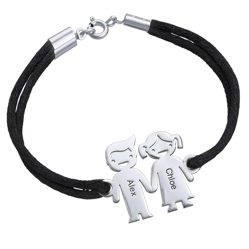 Sterling Silver Kids Holding Hands Bracelet