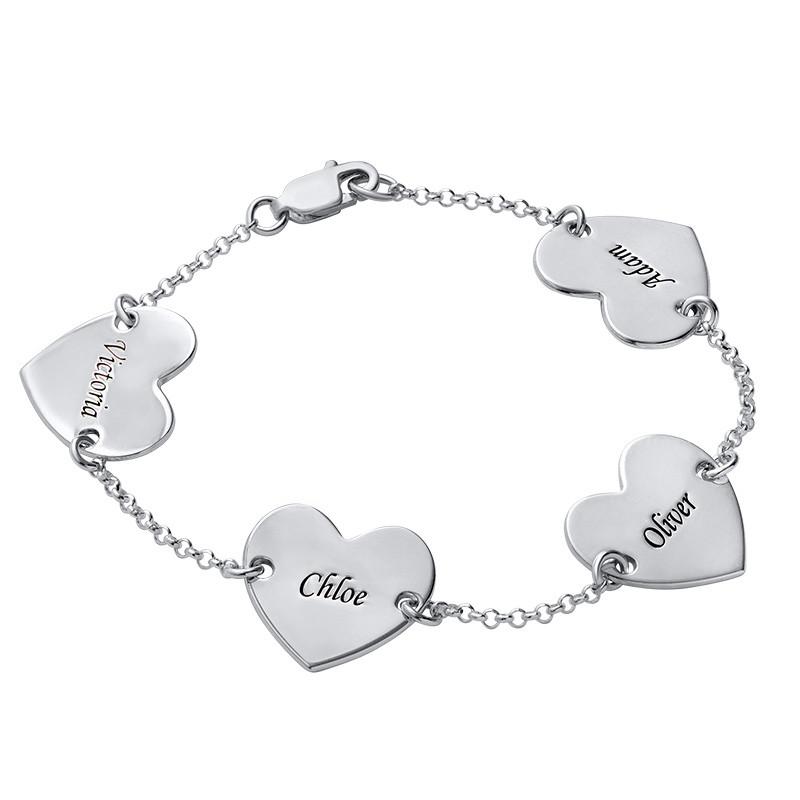 Multiple Heart Bracelet with Engraving - 2
