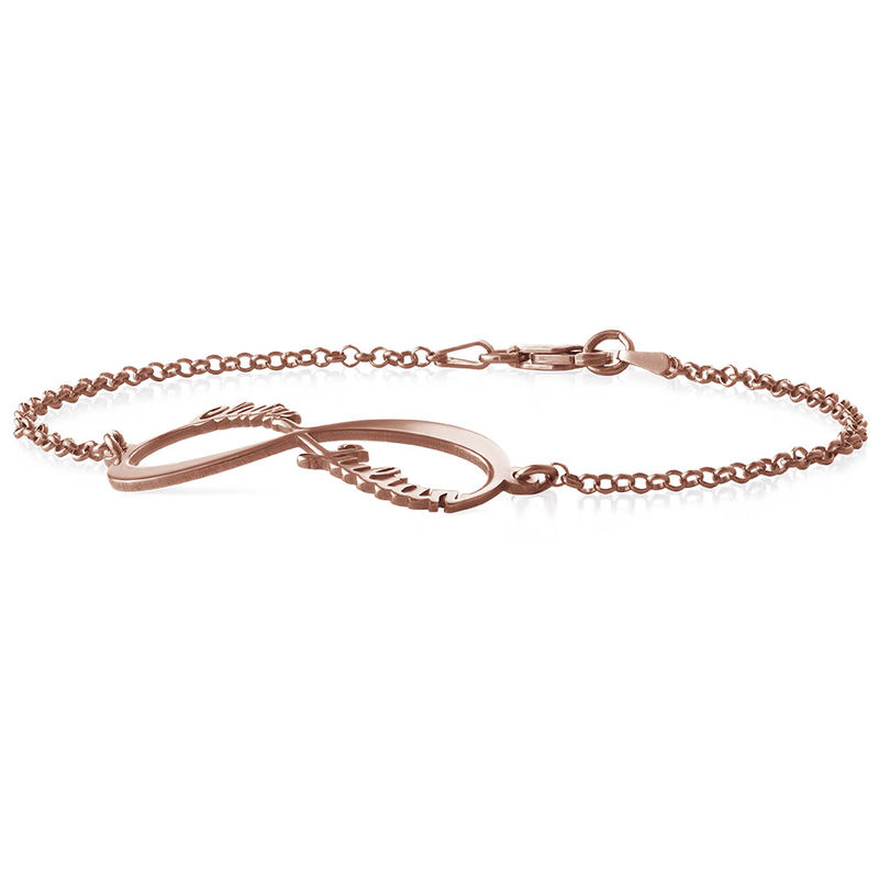 Infinity Bracelet with Names - Rose Gold Plated - 1