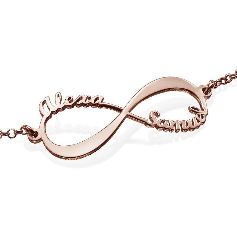 Infinity Bracelet with Names - Rose Gold Plated - 2