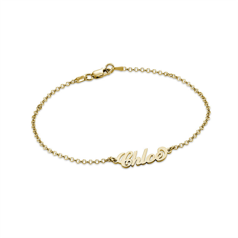 Tiny 18ct Gold-Plated Carrie Personalised Bracelet