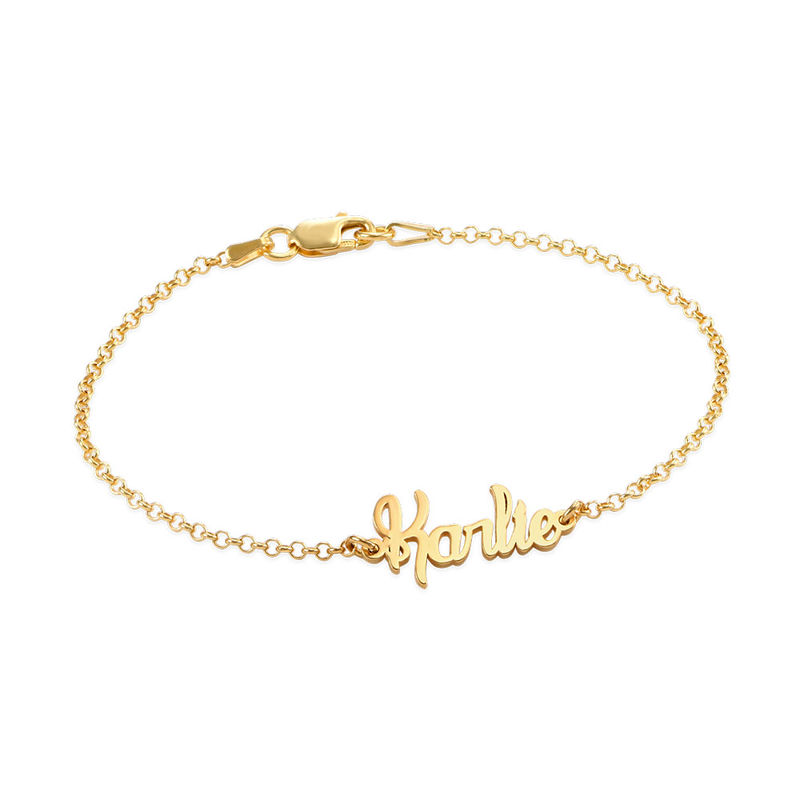 Tiny Bracelet with name in Gold Plating