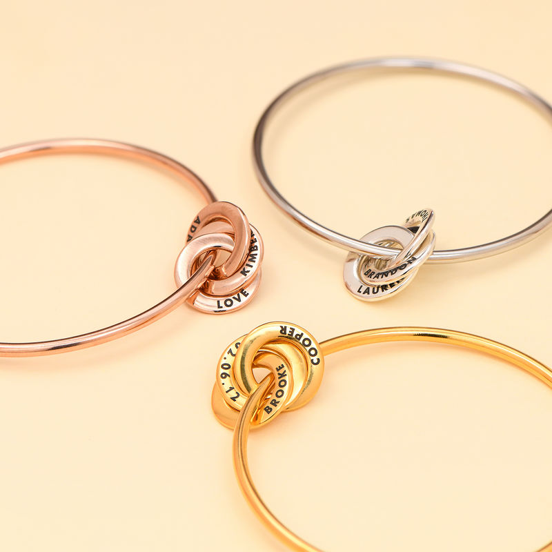 Russian Ring Bangle Bracelet in Silver - 2