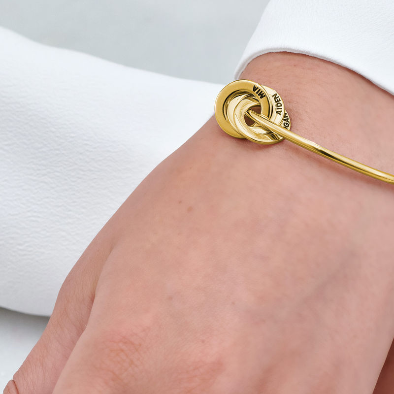 Russian Ring Bangle Bracelet in Gold Plating - 4