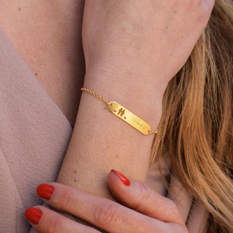 Family Bar Bracelet in 18ct Gold Plating - 3