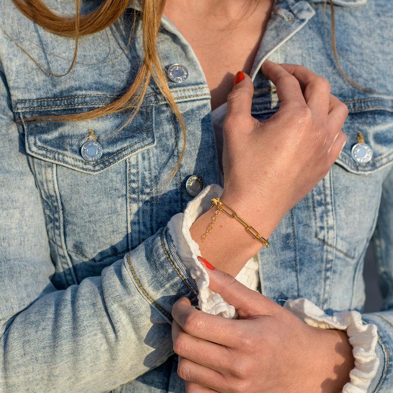 Chain Link Bracelet in 18ct Gold Vermeil - 1