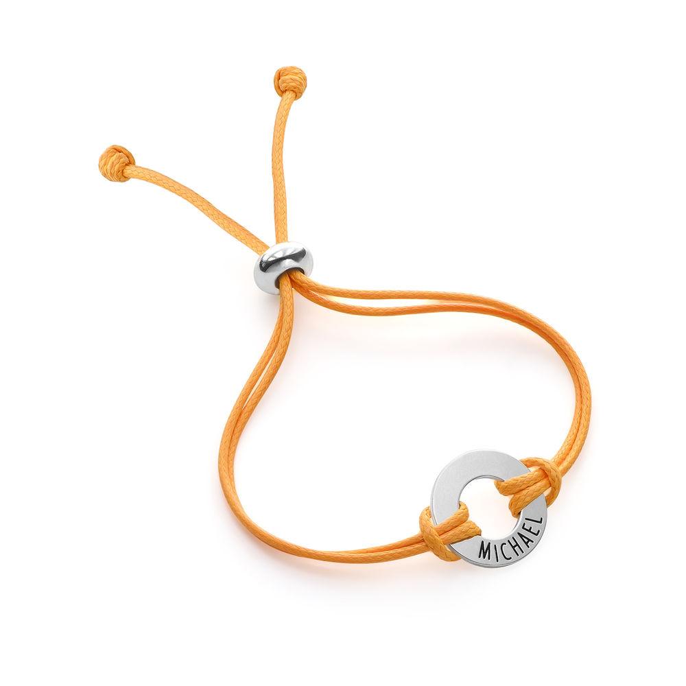 Kids ID Wax Cord Bracelet in Sterling Silver - 2
