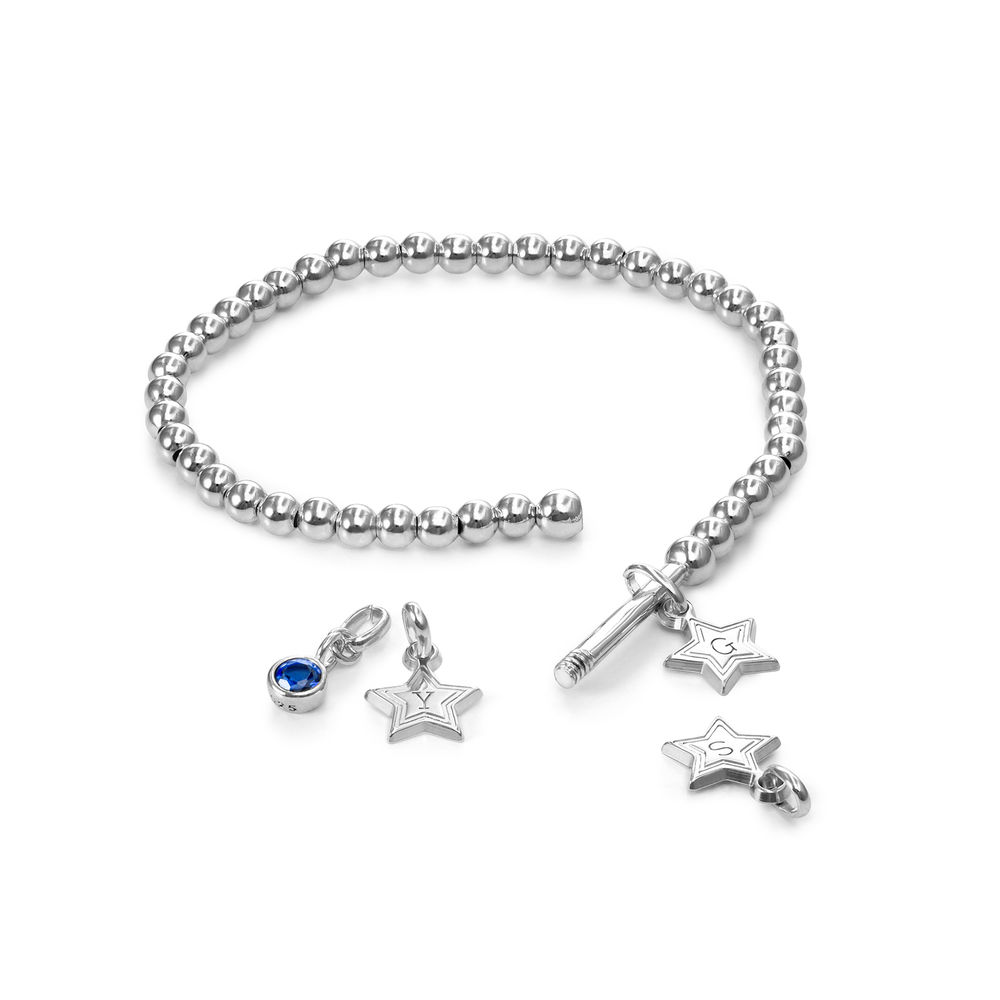 Having a Ball Bracelet with Custom Charms in Sterling Silver - 1