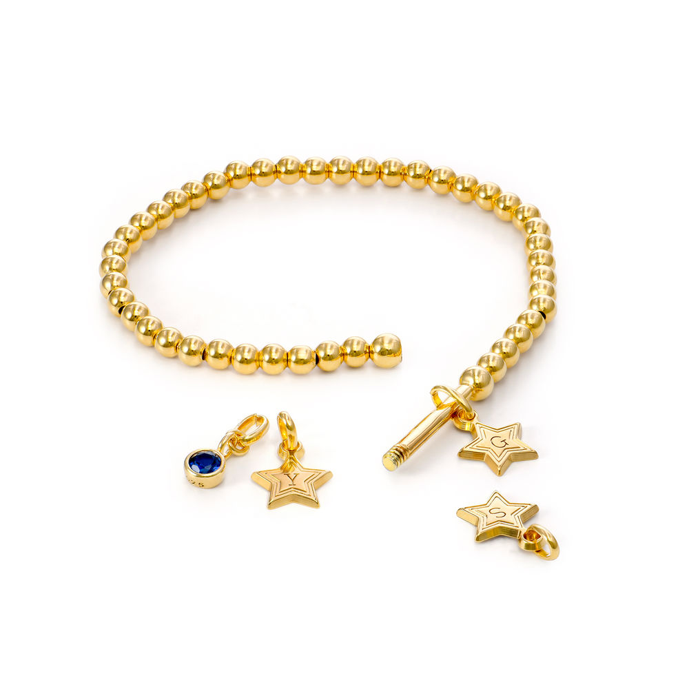 Having a Ball Bracelet with Custom Charms in Gold Plating - 1