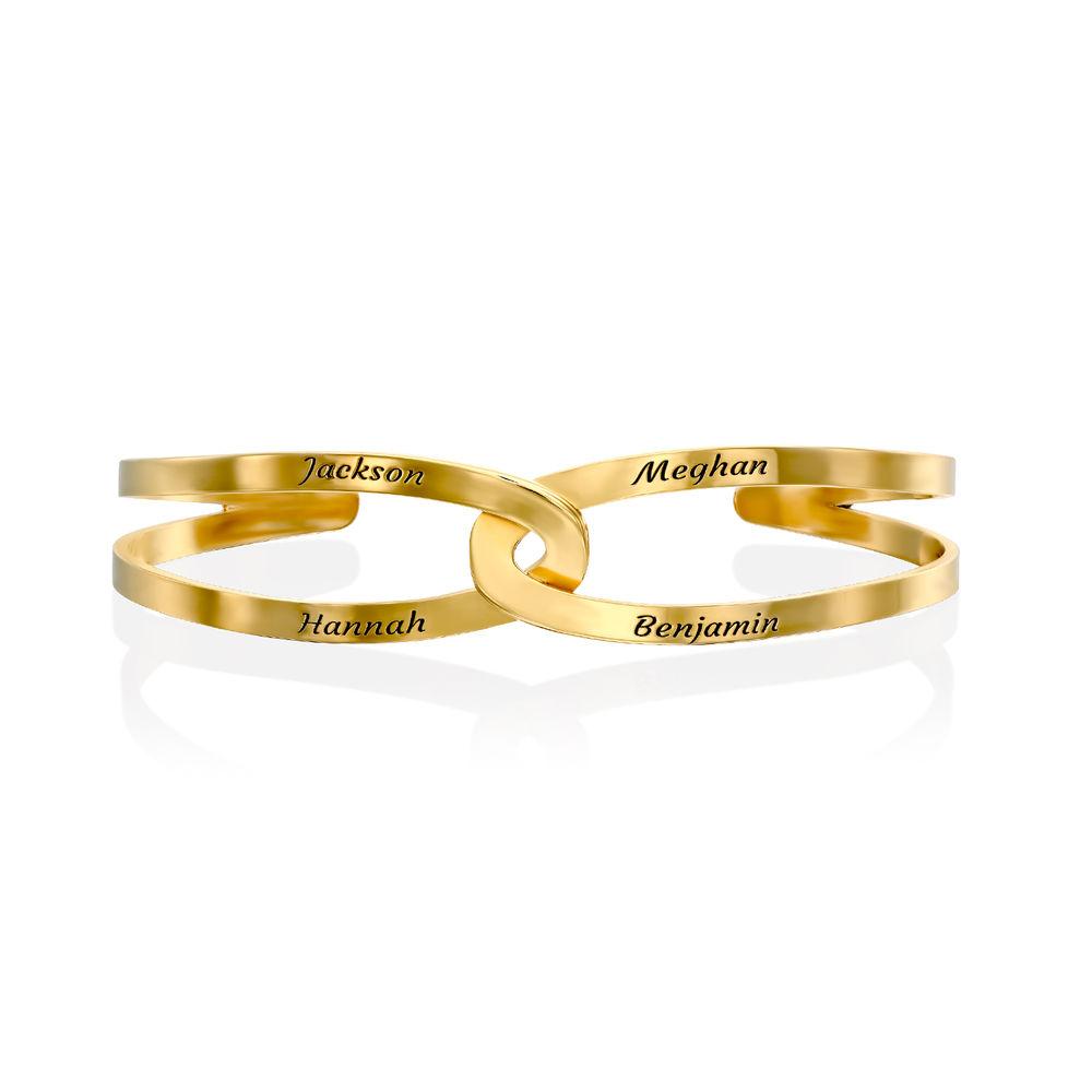 Hand in Hand - Custom Bracelet Cuff in Gold Vermeil - 2