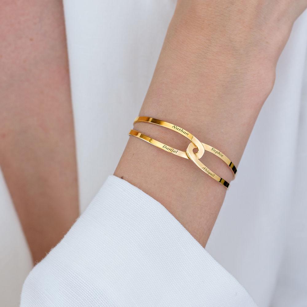 Hand in Hand - Custom Bracelet Cuff in Gold Vermeil - 5